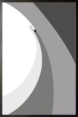 ABSTRACT GRAY TONE NO.7 POSTER 11x15""