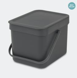 Brabantia Waste Bin Sort&Go - 6L - Grey