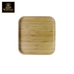 Wilmax Natural Bamboo Square Serving Platter / Tray 12 x 12 inch
