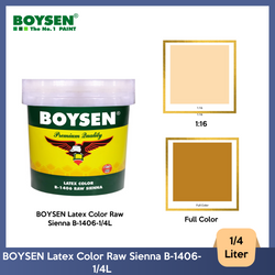 BOYSEN Latex Color Raw Sienna B-1406-1/4L