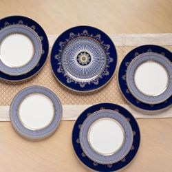 Homescapes Lotus Frieze Dinnerware Set of 8 (Good for 4pax)