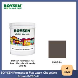 BOYSEN Permacoat Flat Latex Chocolate Brown B-780-4L