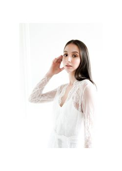 Intissimo Sofia French Lace Bridal Robe