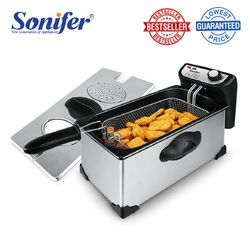Sonifer EL-028 SF-1002 latest temperature-controlled stainless steel deep fryer
