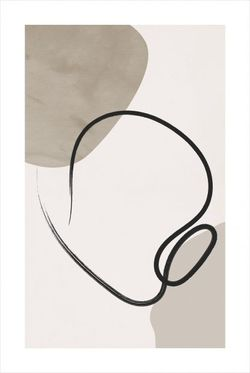 """LINES AND SHAPE NO. 1 POSTER 19x27"""""""
