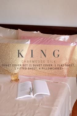 Luxury Silk Bedsheets (Duvet Bedding Set, King size)