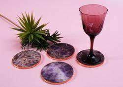 Amethyst Coasters Set of 4