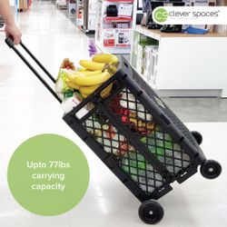 Cleverspaces Foldable Trolley Cart (Tall)