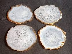 Homescapes Natural White Agate Coaster