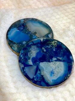O&M Agate and Resin Coasters Set of 4