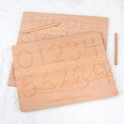 Wooden 2in1 123 Tracing Board