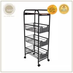 Nest Design Lab 4 Tier Kitchen Basket Rack