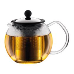Bodum ASSAM TEA PRESS with S/S FILTER,0.5L,17oz,CHROME-SHINY/1807-16