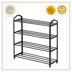 Nest Design Lab 4 Layer shoe rack - Black