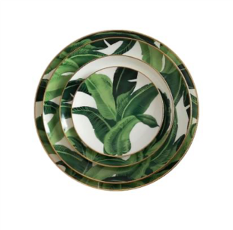 Homescapes Tropical Dinnerware Set of 8 (Good for 4pax)