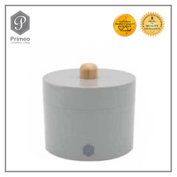 Primeo Bathroom Accessories Bamboo Gray Series Cotton Jar