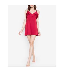 Intissimo Rafaela (Red)  Silk Slip Dress