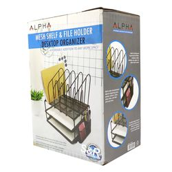 Alpha Mesh Shelf and File Holder Desktop Organizer 1pc