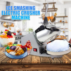 Electric Ice Crusher Machine (Silver)
