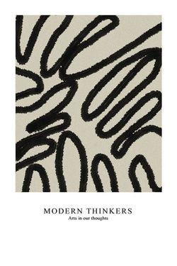 "MODERN THINKER ART POSTER 24x36"""