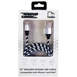 Trend Logic 10 Ft Braided Iphone USB Cable - Silver