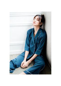Intissimo Anastasia (Teal) Silk Long Pyjama