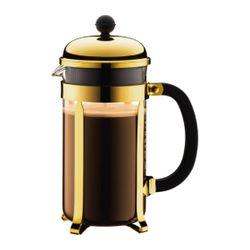 Bodum CHAMBORD COFFEE MAKER,8cup,1.0L,34oz,GOLD