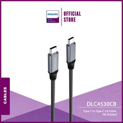 Philips DLC4530CB Type C to Type C 3.0 Cable, 1M, Braided