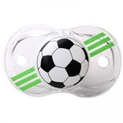 Tickled Babies Razbaby Keep-It-Klean Pacifier - Soccer Ball