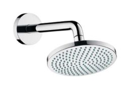 Hansgrohe Croma 160 1jet overhead shower with 27411.000 shower arm 27450.000