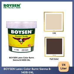 BOYSEN Latex Color Burnt Sienna B-1408-1/4L