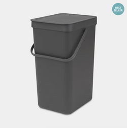Brabantia Waste Bin Sort&Go - 16L - Grey