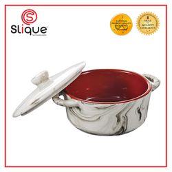 Slique Marble Round Mini Baking Dish 150 ml with Lid