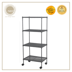 NEST DESIGN LAB Premium 3L Multi-purpose Shelf Kitchen Organizer 4 Layer