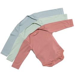 BabyStudio Organic Bamboo Long Sleeve Onesie (Pack of 3 - Assorted Colors)