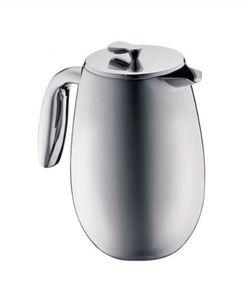 BODUM  COLUMBIA COFFEE MAKER,DOUBLE WALL,8cup,1.0L,34oz,S/S,CHROME-MATT
