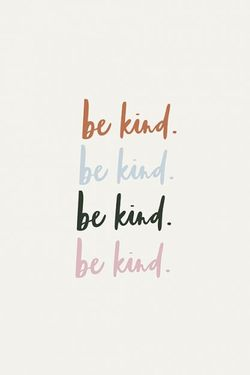 """BE KIND TYPOGRAPHY POSTER 19x27"""""""