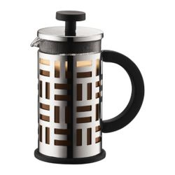 Bodum EILEEN FRENCH PRESS COFFEE MAKER,3cup,0.35L,12oz,CHROME-SHINY/11198-16