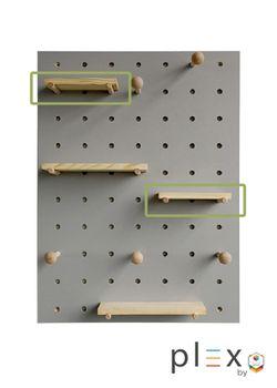 Plex Pegboard Floating Shelf - Short Shelf