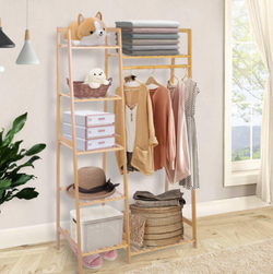 Lakbawayan Bamboo Garment / Clothes Rack 7-tier Storage