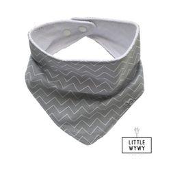 Little Wywy Bandana Bib - Grey Chevron