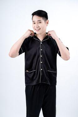 Intissimo Ken (Black) Silk Long Pyjama