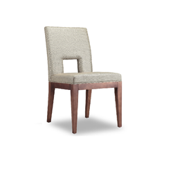 Hole Dining Chair Beige Wood legs