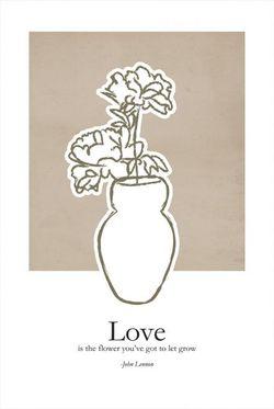 """LOVE FLOWER VASE POSTER 11x15"""""""