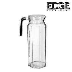 Edge Houseware 1pc of Glass Pitcher With Lid Glass Carafe Sun Tea Pitcher Glass Jug For Homemade Juice And Iced Tea Glass Water Pitcher Fridge 1000ml 34oz