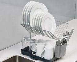 Joseph Joseph Y Rack Dish Drainer - White Green and Grey 85084/85083