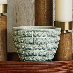 Sienna Bowl - Turquoise Crackle