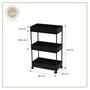 Nest Design Lab Utility Cart 3 Layer Shelf Rack Trolley-Multipurpose