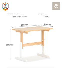 Boori Adjustable Kids Tidy Learning Table Desk