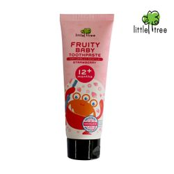 Little Tree Fruity Fresh Toothpaste 12+months Monster Series Strawberry 25ml